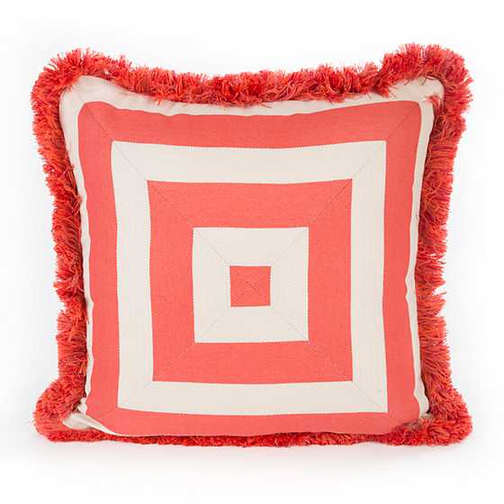 Mackenzie Childs Spindle Cabana Outdoor Accent Pillow