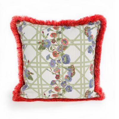 Morning Glory Spindle Outdoor Accent Pillow