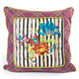 Tartan Tulip Square Pillow