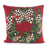 Beaded Evergreen Pillow