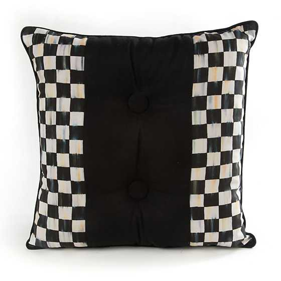 Mackenzie Childs Courtly Check Double Button Pillow