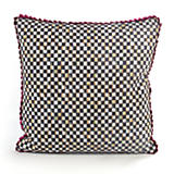 Courtly Check Pillow - Pansy