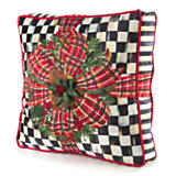 Bows & Boughs Pillow - Check