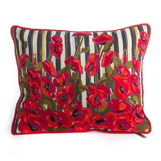 Mackenzie Childs Poppy Garden Lumbar Pillow Small