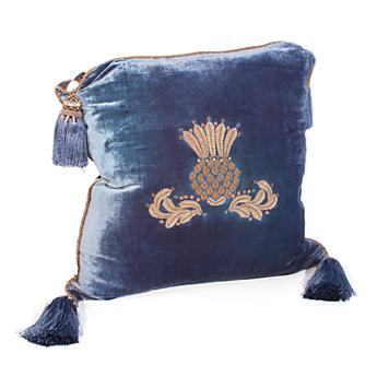 Highbanks Square Pillow - French Blue