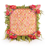 Blushing Bouquet Square Pillow
