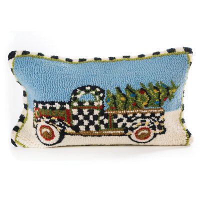 Farm Truck Hooked Pillow