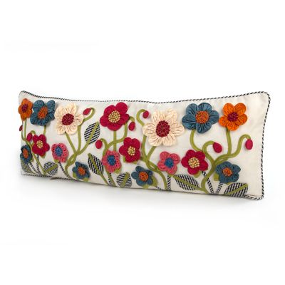 Tic-Tac-Posie Lumbar Pillow - Long
