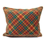 Highland Tartan Embroidered Lumbar Pillow