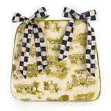 Aurora Toile Seat Cushion - Green