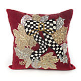 Berry Frost Beaded Square Pillow