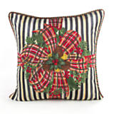 Bows & Boughs Pillow - Stripe