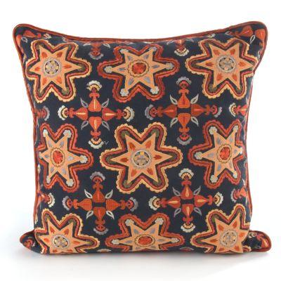 Navy Stars Square Pillow