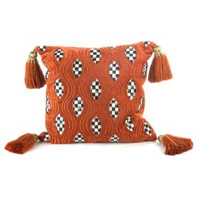 Cutaway Pillow - Rust