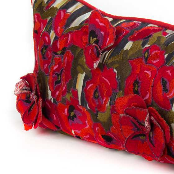 Mackenzie Childs Poppy Garden Lumbar Pillow Large