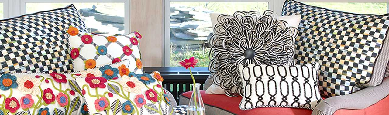 Mackenzie Childs On The Avenue Pillow