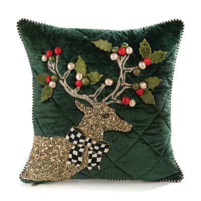 Jeweled Deer Pillow