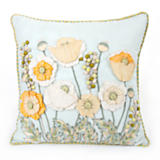 Parchment Poppy Square Pillow