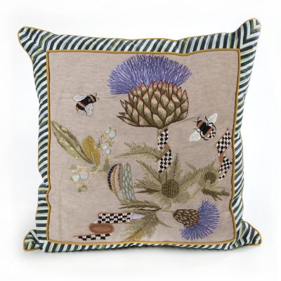 Thistle & Bee Square Pillow - Large