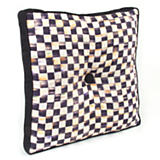 Courtly Check Outdoor Pillow - Black Gusset