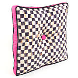Courtly Check Outdoor Pillow - Pink Gusset