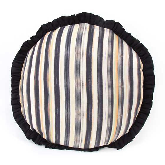 Mackenzie Childs Courtly Check Ruffled Round Pillow