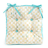 Parchment Check Outdoor Chair Cushion