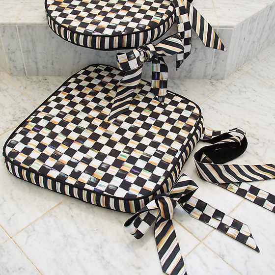 Mackenzie Childs Courtly Check Chair Cushion