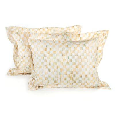 Parchment Check Standard Shams - Set of 2