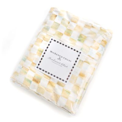 Parchment Check Duvet Cover - King