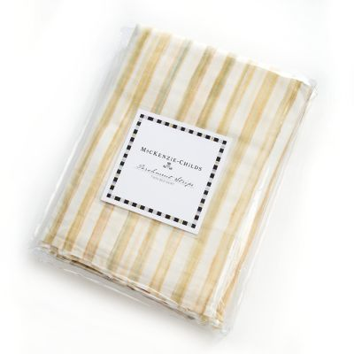 Parchment Stripe Bed Skirt - Twin