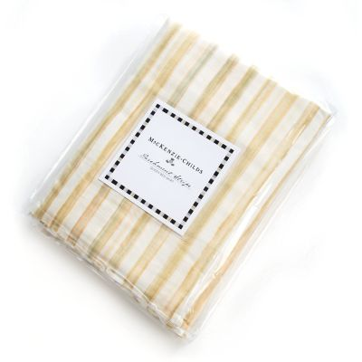 Parchment Stripe Bed Skirt - Queen