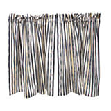 Courtly Stripe Cafe Curtains - Set of 2