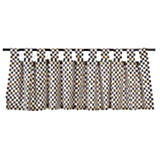 Courtly Check Tab Top Cafe Valance