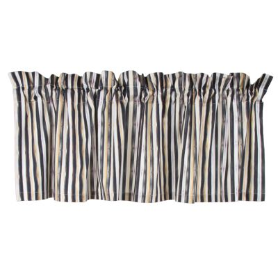 Courtly Stripe Cafe Valance