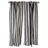 Courtly Stripe Linen Curtain Panel
