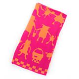 Animal Parade Knit Blanket - Pink