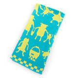 Animal Parade Knit Blanket - Blue
