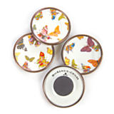 Butterfly Garden Magnets - White - Set of 4