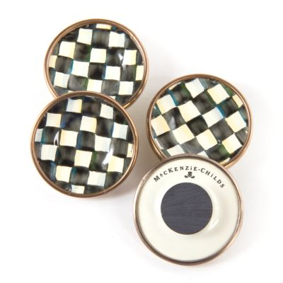 Courtly Check Enamel Magnets - Set of 4