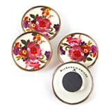 Flower Market Magnets - White - Set of 4