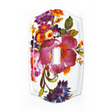 Flower Market Switch Plate - Single Toggle - White