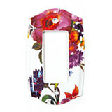 Flower Market Switch Plate - Single Rocker - White