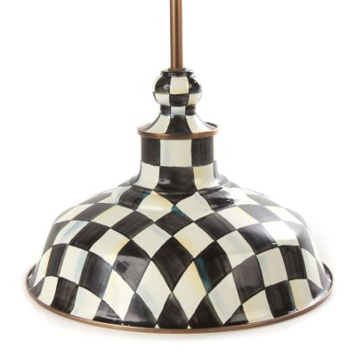 Courtly Check Barn Pendant Lamp - 12""