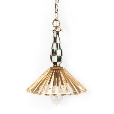 Courtly Ballerina Pendant Lamp - Amber