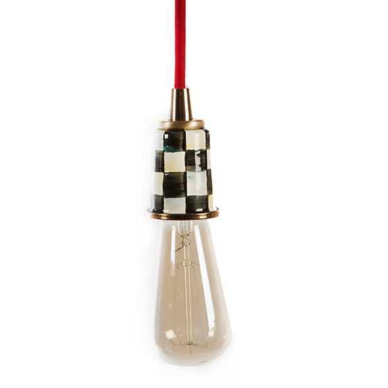 Mini Red Love Chandelier: Mini Pendant Light - Red