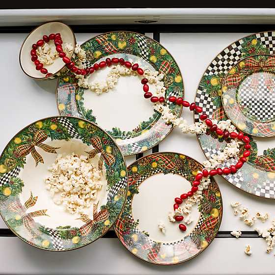 Mackenzie Childs Evergreen Enamel Charger Plate