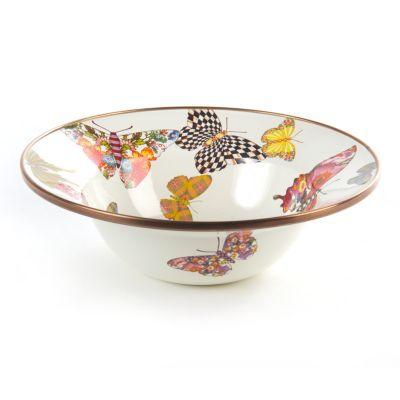 Butterfly Garden Breakfast Bowl - White