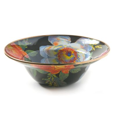 Flower Market Breakfast Bowl - Black