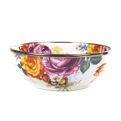 Flower Market Everyday Bowl - White